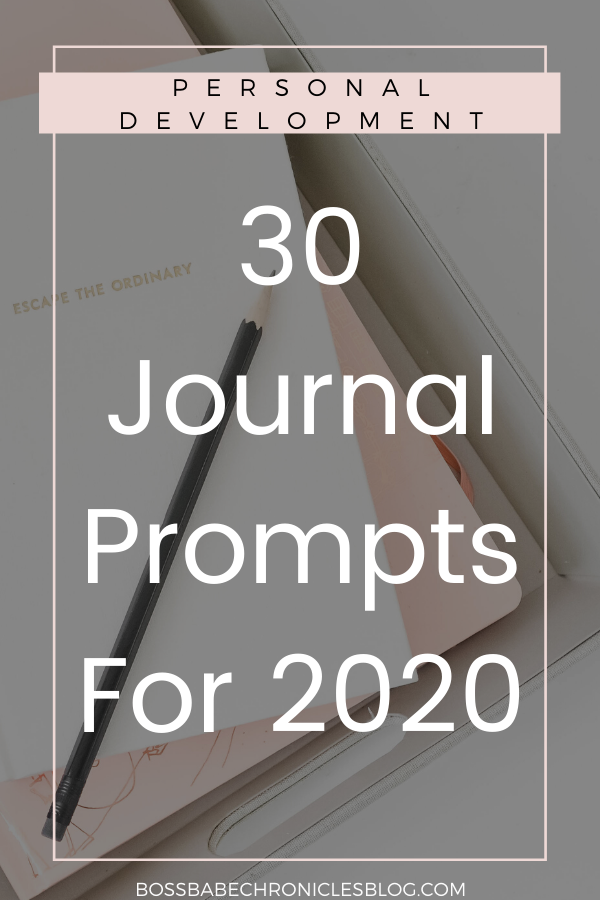Journal Prompts For The New Year