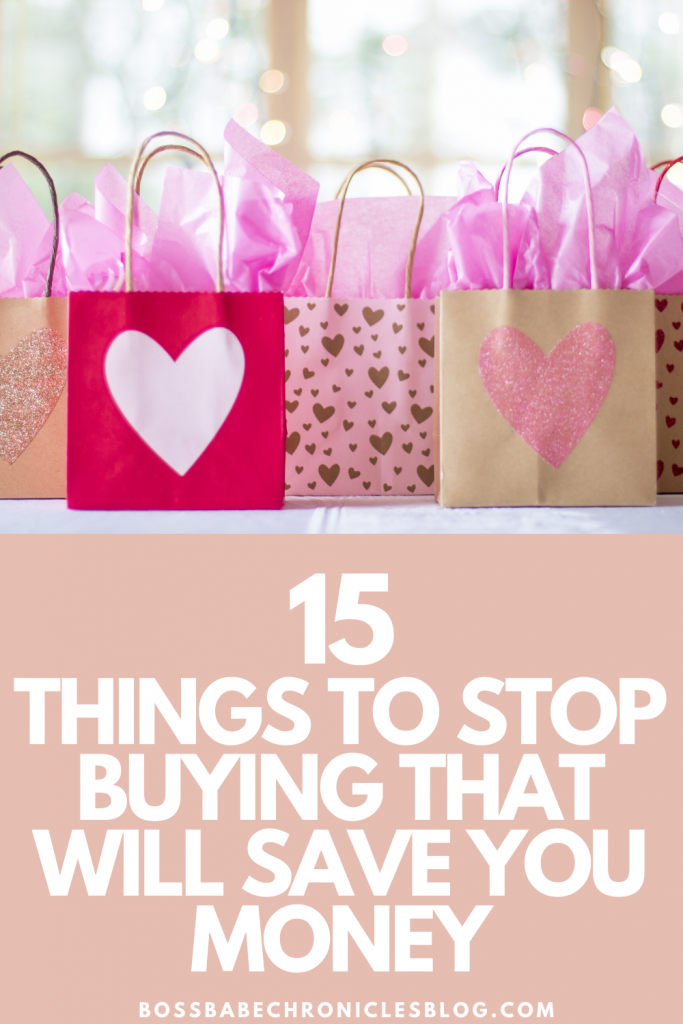 How To Stop Buying And Start Saving