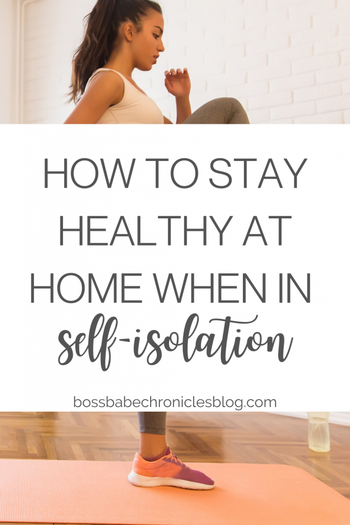 how to stay healthy at home