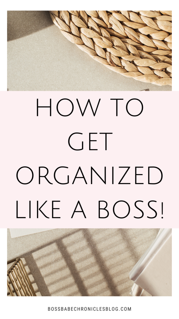 how to become an organized person
