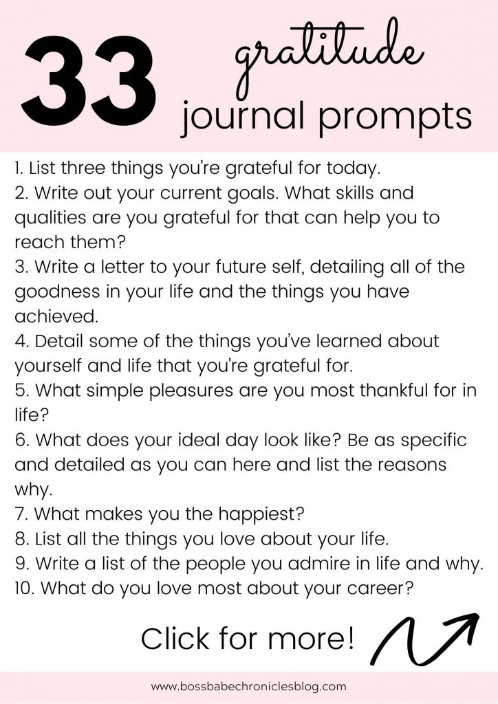 Gratitude Journal Prompts To Help You Live Your Dream Life