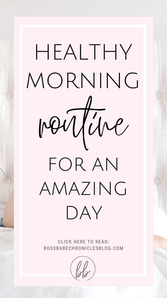 Healthy morning routine for an amazing day,