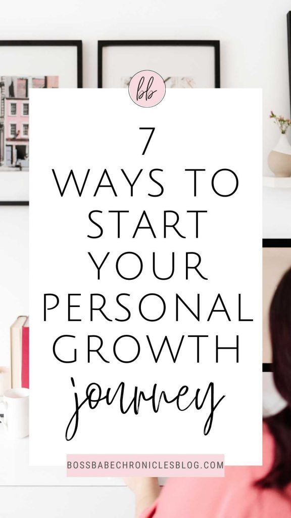How to start a personal development journey.