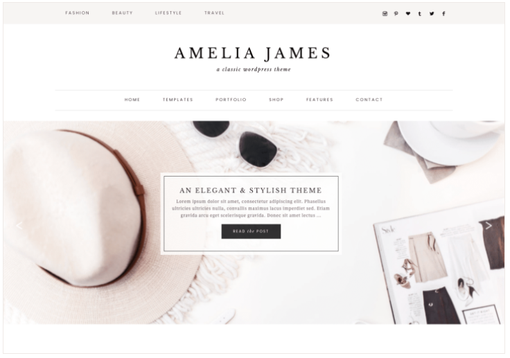 Genevieve Feminine WordPress Theme