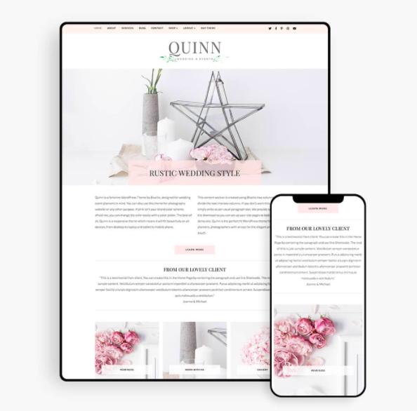 Quinn Feminine WordPress Theme
